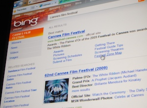 bing showing some cluster search