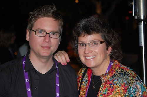 Biz Stone from Twitter poses with Al