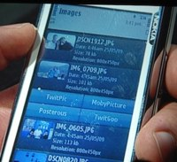 Nokia built in twit picture support