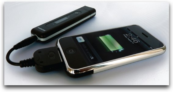 powerstick charging an iPhone
