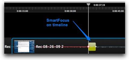 SmartFocus in the timeline
