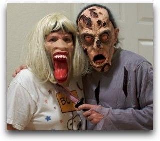 Al and Steve dressed like ghouls