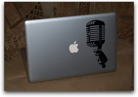 mic sticker on my MBP from trickimages.com