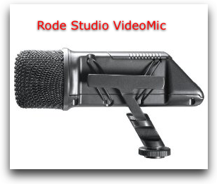 Rode Studio VideoMic at amazon