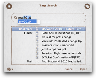 search view of Tags