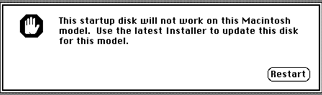 message saying I can't install