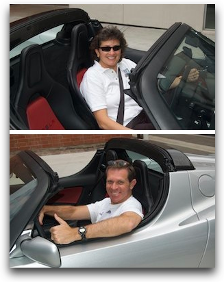 Al and then Steve drive the Tesla