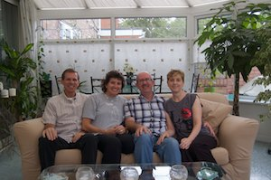 four of us in the conservatory