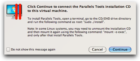 instructions on Parallels Tools