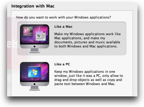 windows install asking if I want it to act like a mac or pc