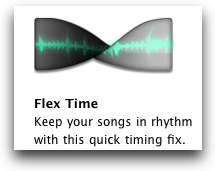 twisted audio wave form for Flex Time Editing