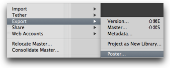 Aperture has the Poster option right under Export