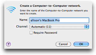 field to enter the network name and a checkbox for the password