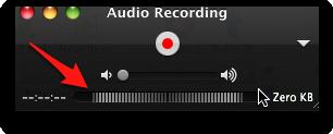 quicktime recording window showing volume