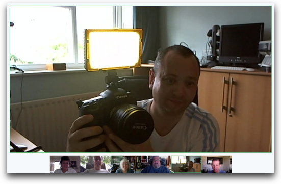 google hang out with six peoples video