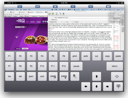 keyboard popped on screen on iPad but typing is happening on the Mac screen