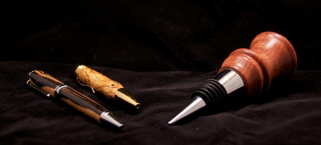 pens and cork as described