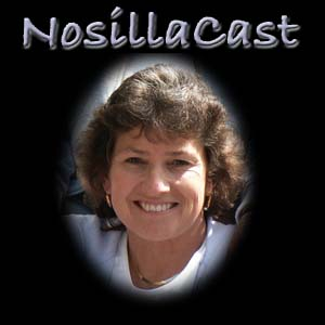 original logo of just my face and the name NosillaCast above it