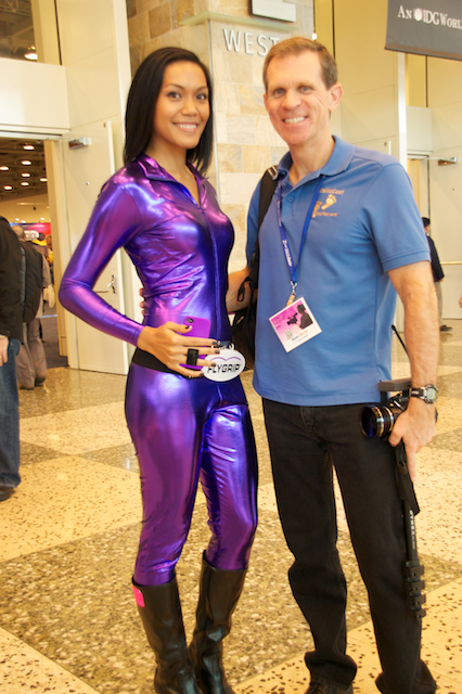 purple lady in skin tight suit…with Steve!