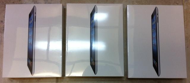 3 unopened iPads