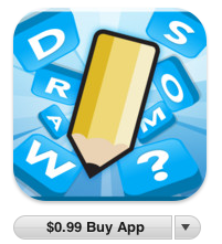 draw something logo linking to purchase in iTunes store