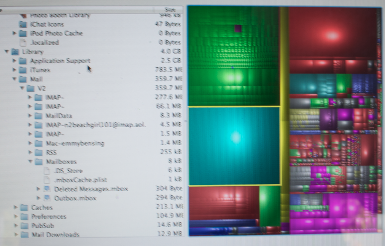 emmys drive showing a normal assortent of files