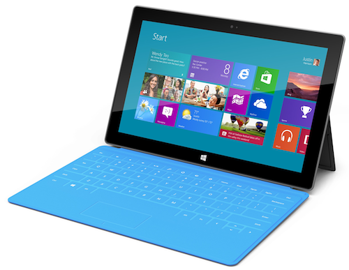 surface with touch cover matching turquoise