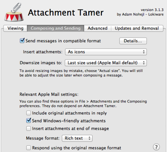 composing tab for Attachment Tamer preferences