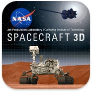 Nasa app logo for Spacecraft 3D