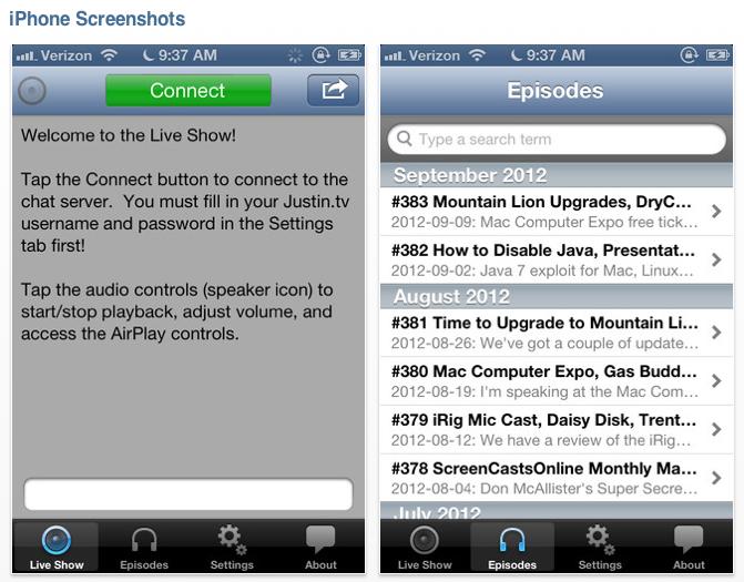 NosillaCast app screenshots