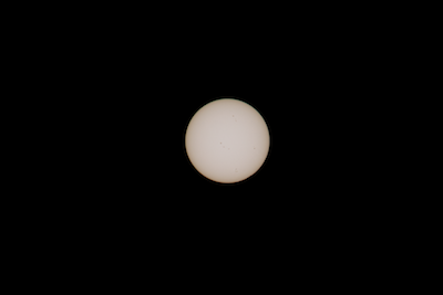 fourth contact - there are 14 sun spots showing!