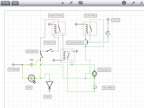 Bob's circuit diagram