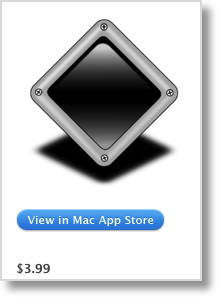 DropShadow logo from iTunes showing $3.99 price AND with a nice drop shadow!