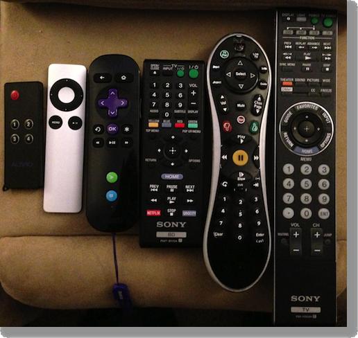 6 remotes in a row