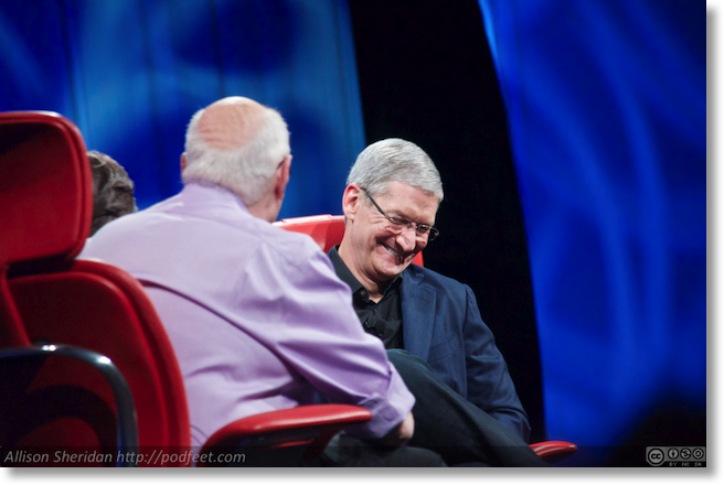 tim cook laughs at something Walt said