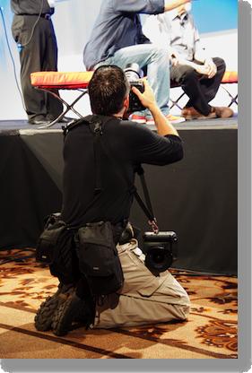 Asa as a ninja shooting the stage