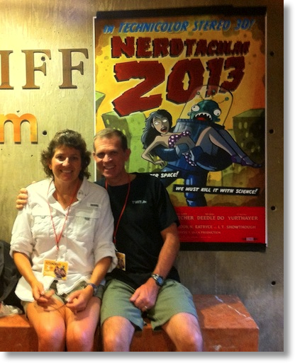 steve and me in front of the nerdtacular sign