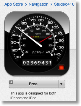 speedometer app in iTunes store