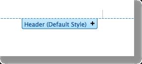 header default style
