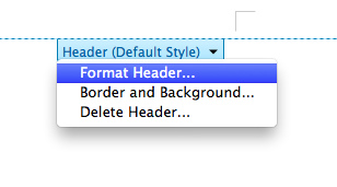 format header