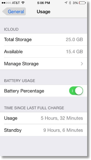 battery at 3% with only 5 hrs 32 min usage