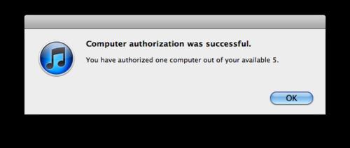 iTunes error saying I've authorized 5 computers already