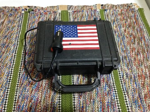 Honda Bobs pelican case with his American Flag
