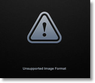 error Apple shows when Aperture doesn't recognize a raw file