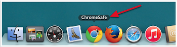 chrome safe shown in the dock