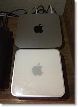 top view of old and new Mac Minis