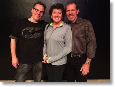 Ken Wolf with Steve and me
