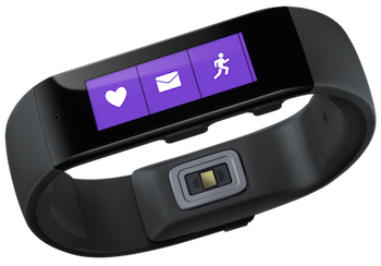 Microsoft Band showing notifications