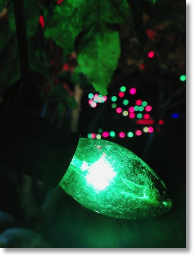 Really nice macro photo of a Christmas tree bulb from the Fire Phone