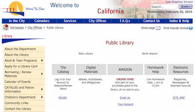 my library's horrible interface